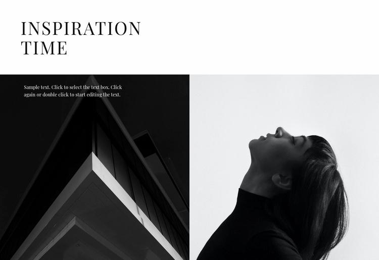 Inspiration ideas Website Template