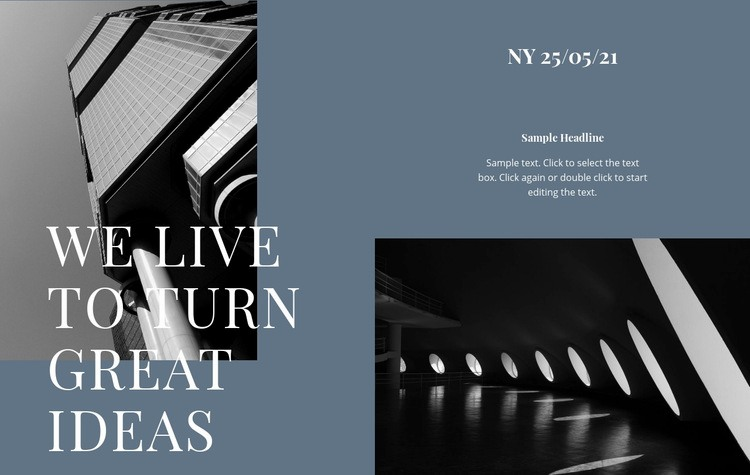 We live to turn great ideas Web Page Design