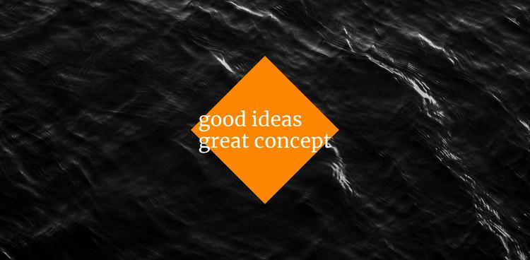 Good ideas great concept Website Template