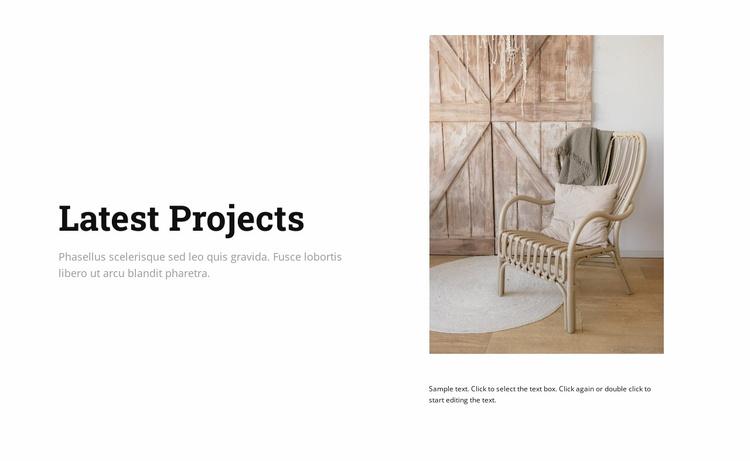 Elegant furniture Website Template