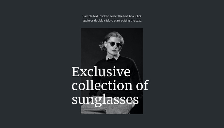 Exclusive collection of sunglasses HTML Template