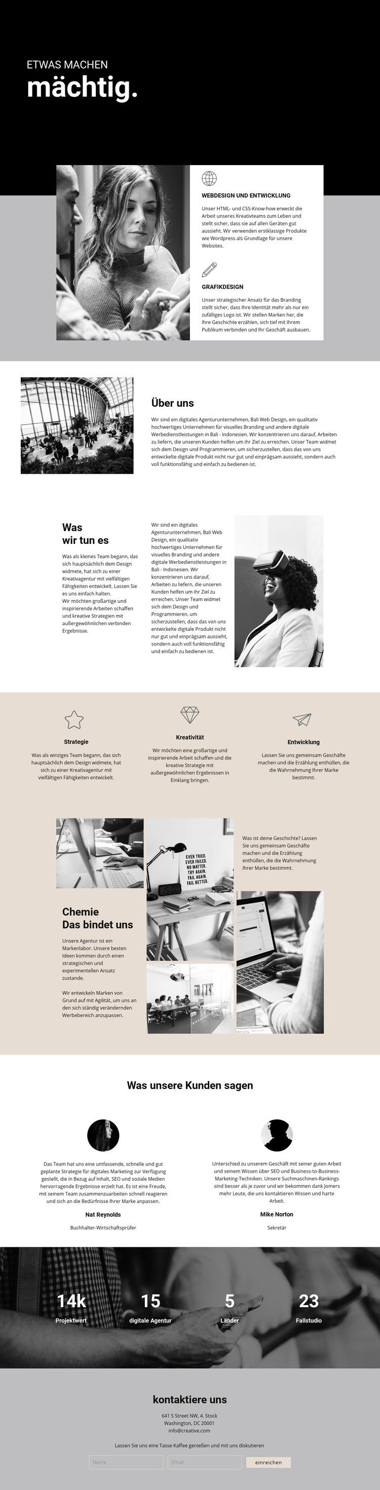 Macht des digitalen Geschäfts Website-Vorlage