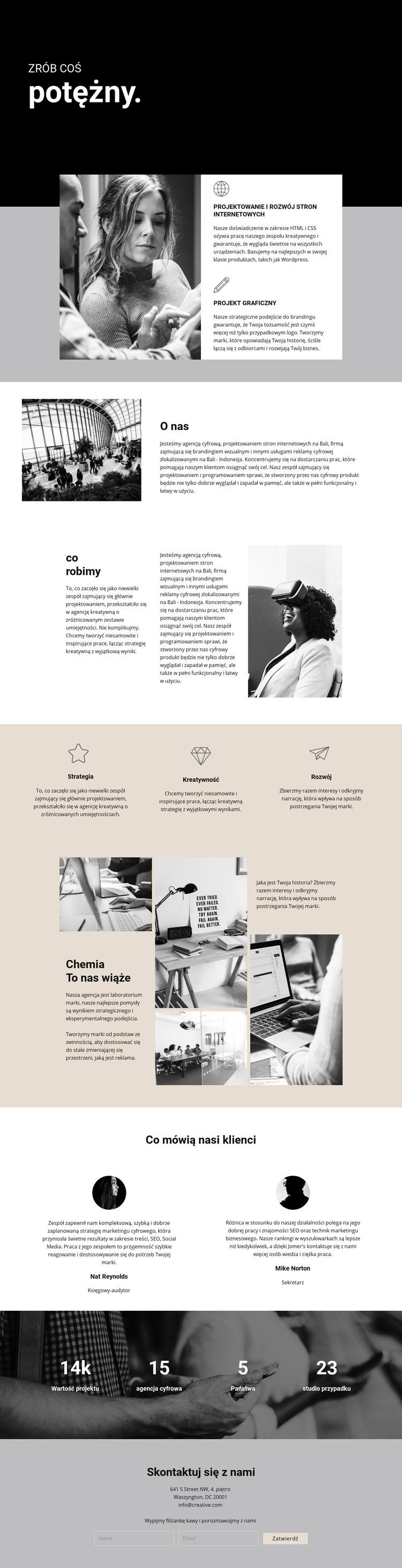 Potęga biznesu cyfrowego Szablon witryny sieci Web