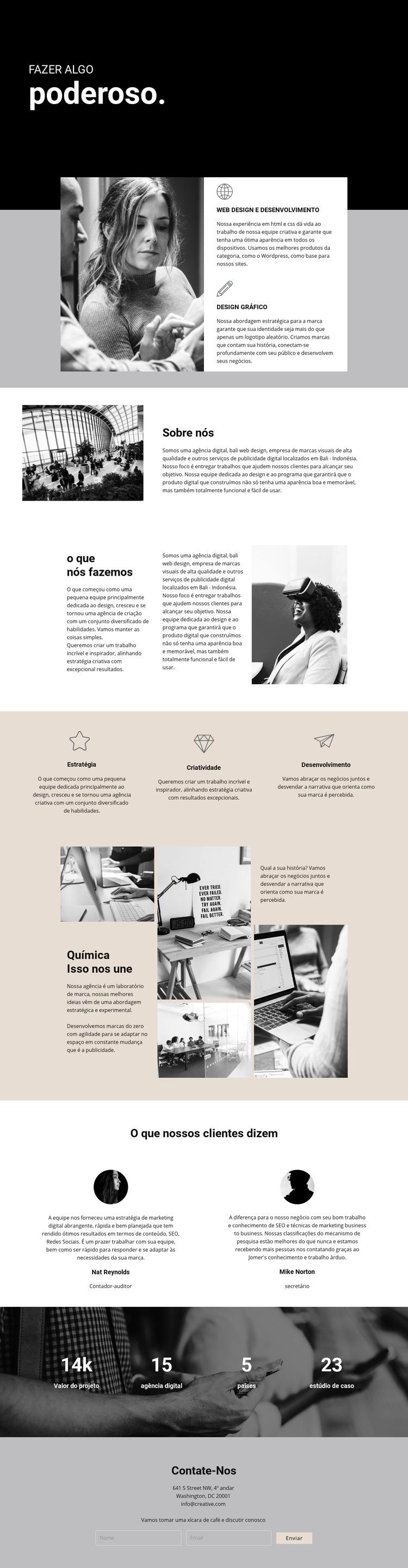 Poder do negócio digital Modelo de site