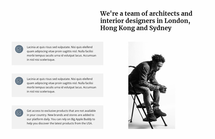 A team of architects Website Mockup