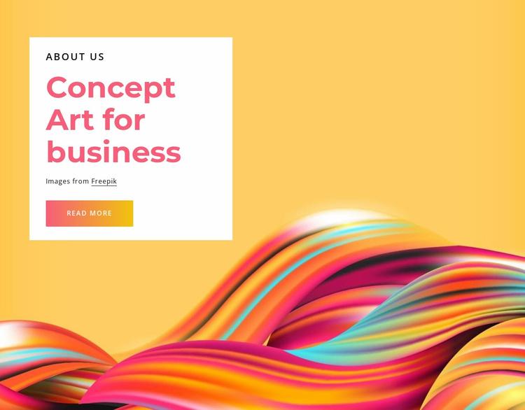 Concept art for business Website Template