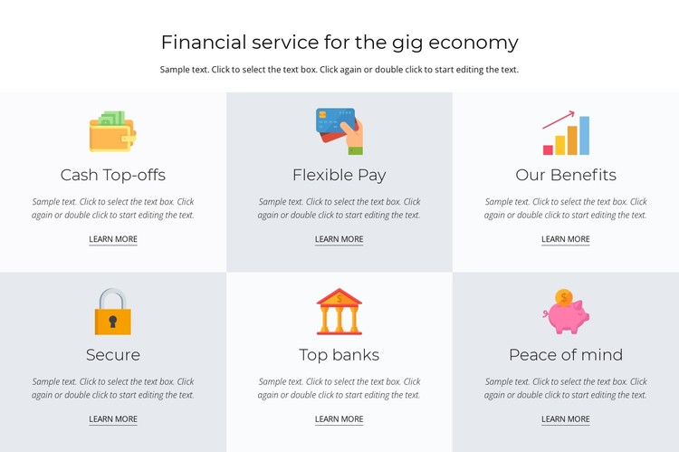 Financial services for you CSS Template