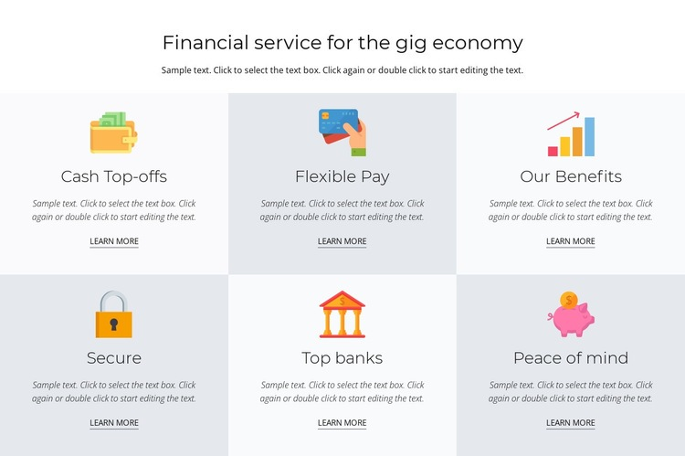Financial services for you Html Code Example