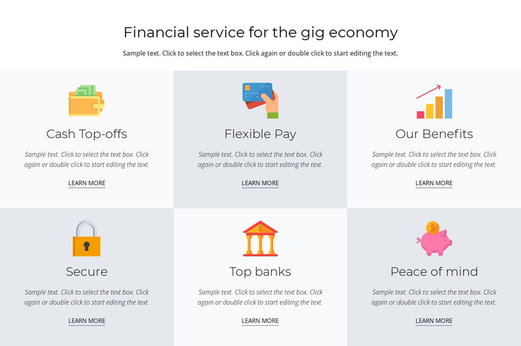 Financial services for you HTML Template