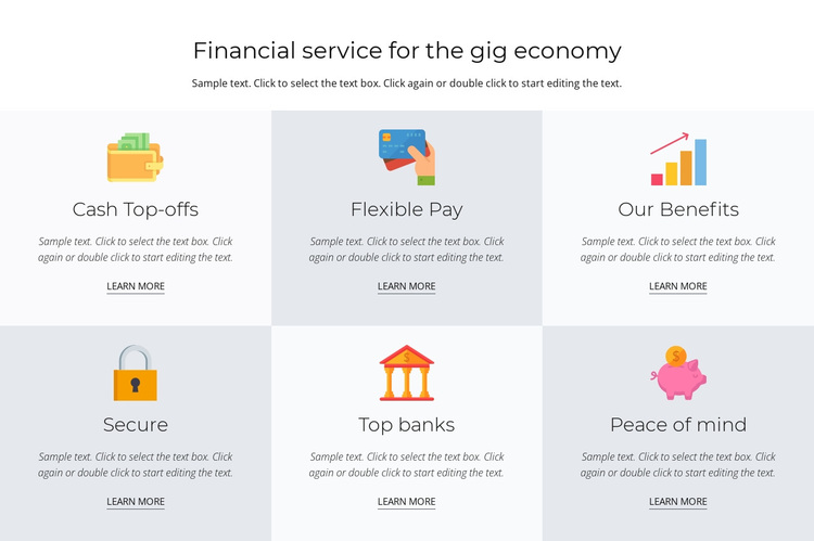 Financial services for you Joomla Page Builder