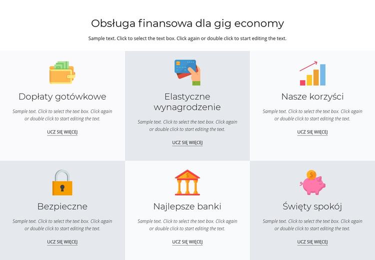 Usługi finansowe dla Ciebie Szablon witryny sieci Web