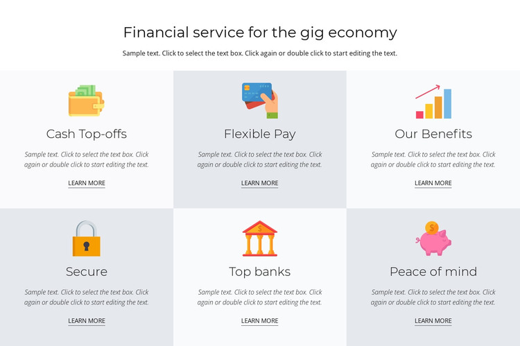 Financial services for you Web Design