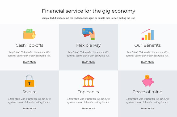 Financial services for you Website Mockup
