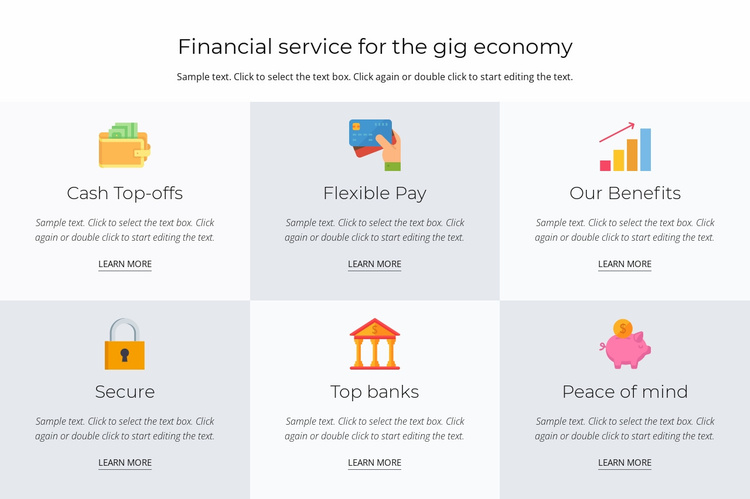 Financial services for you Website Template