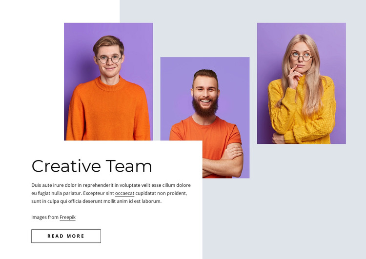 Creative and effective team HTML Template
