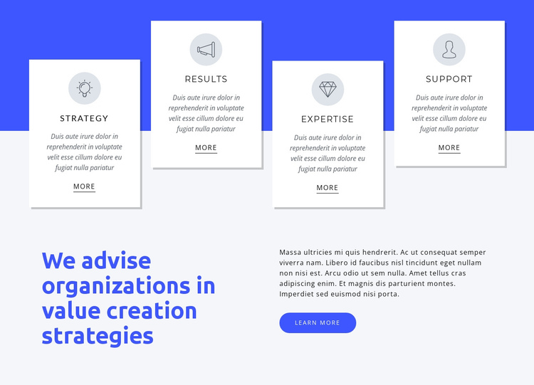 We help global organizations One Page Template