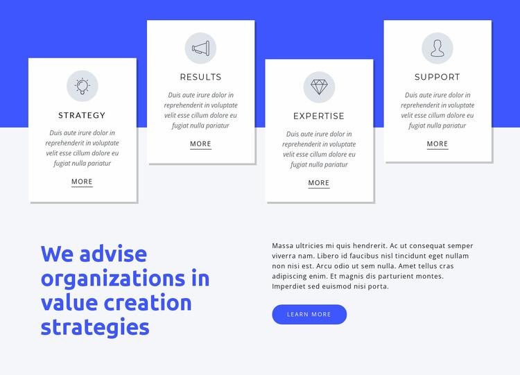 We help global organizations Website Mockup