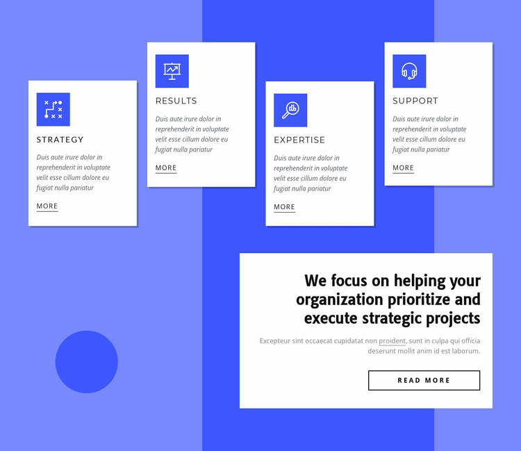 We provide expert opinions Website Template