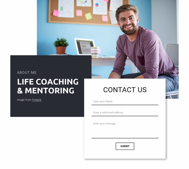 Life coaching and mentoring Website Mockup