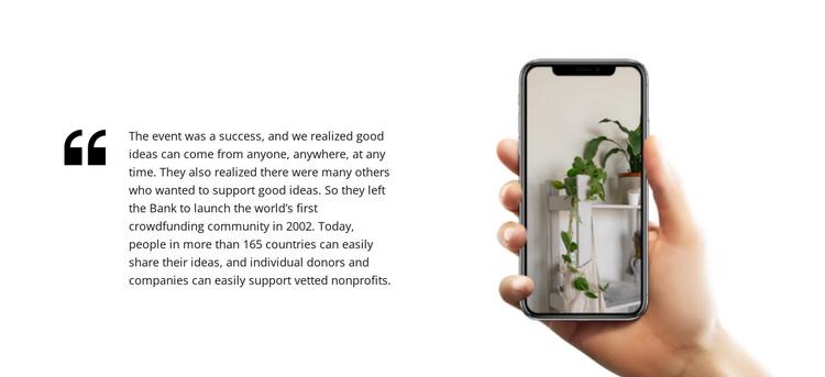 Interior design mobile app Joomla Template