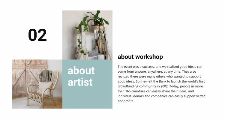 About workshop Website Mockup