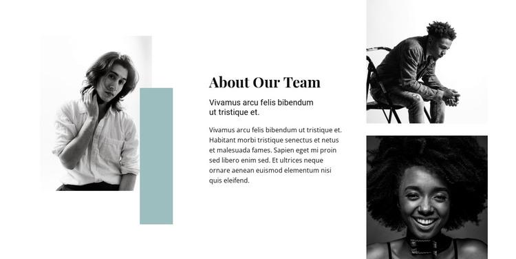 Meet the super team HTML Template