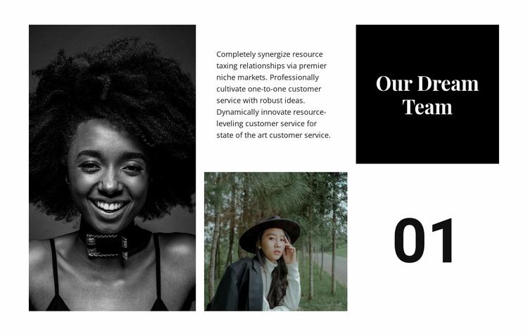 Our dream team Website Template