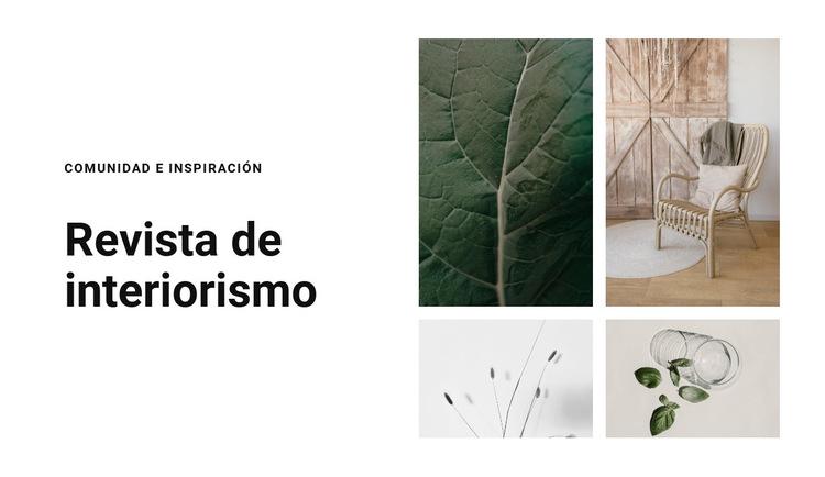 Texturas como inspiración Plantilla de sitio web