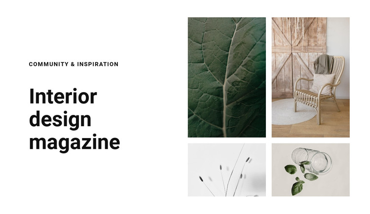 Textures as inspiration HTML Template