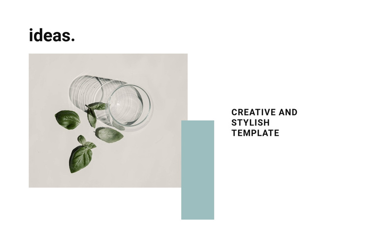 Creative and stylish template HTML5 Template