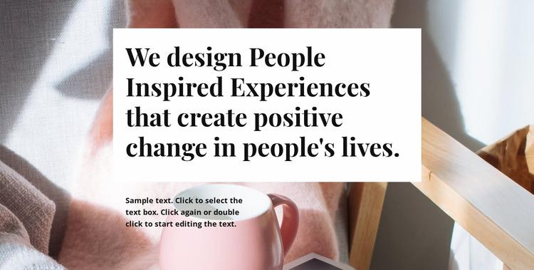 We design people inspired Website Mockup