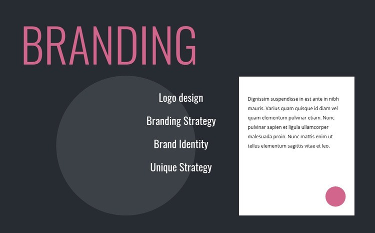 Logo design and branding strategy Html Code Example