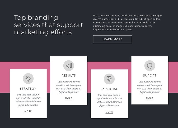 Top branding services Html Code Example