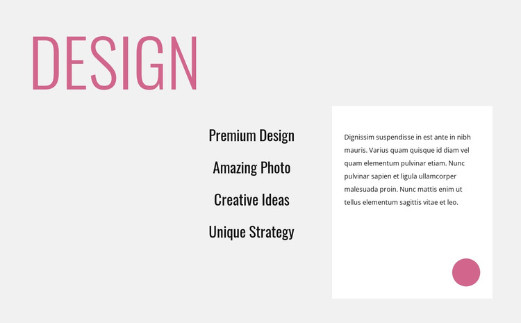 Creative innovative design HTML Template
