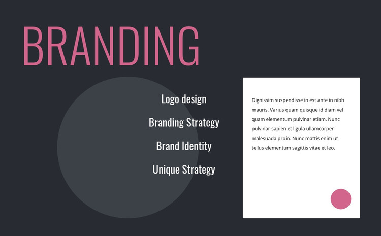 Logo design and branding strategy HTML Template