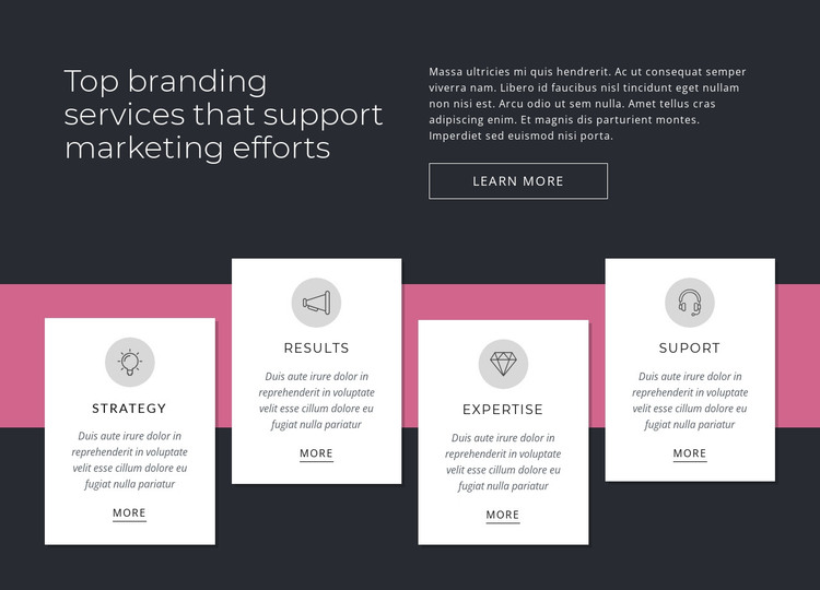 Top branding services HTML Template