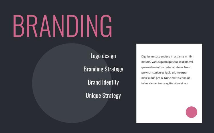 Logo design and branding strategy Joomla Template