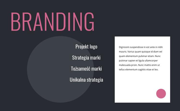 Projekt logo i strategia marki Szablon witryny sieci Web