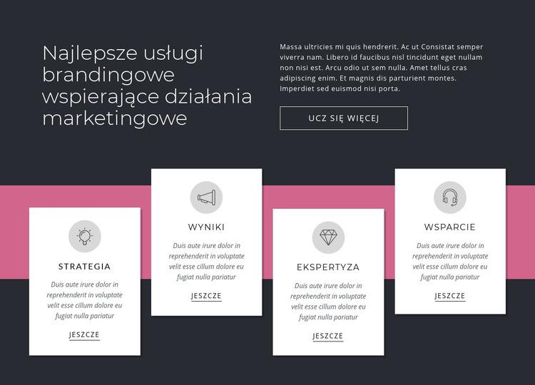 Najlepsze usługi brandingowe Szablon witryny sieci Web
