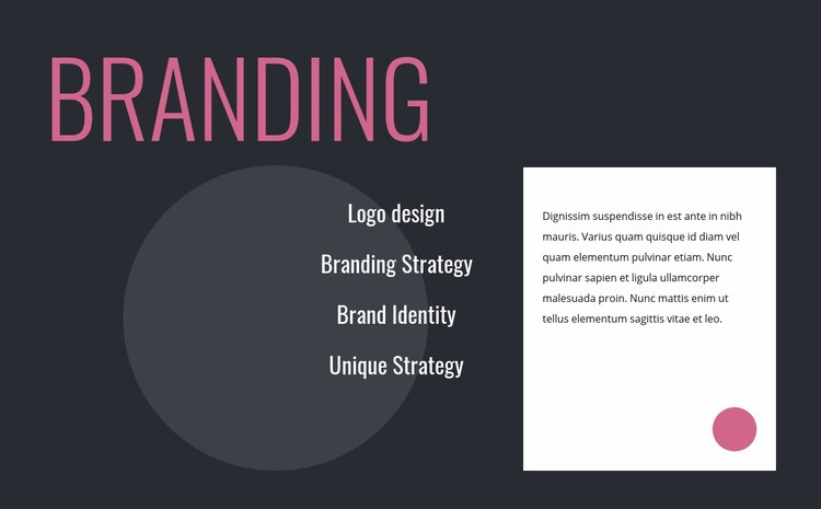 Logo design and branding strategy Web Page Design