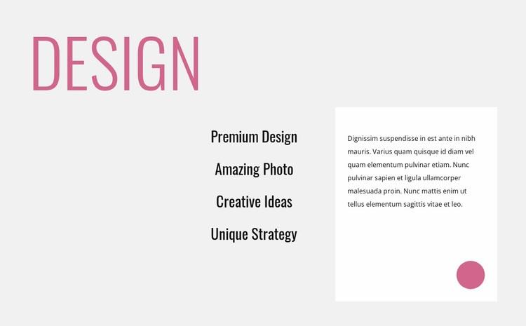 Creative innovative design Web Page Designer