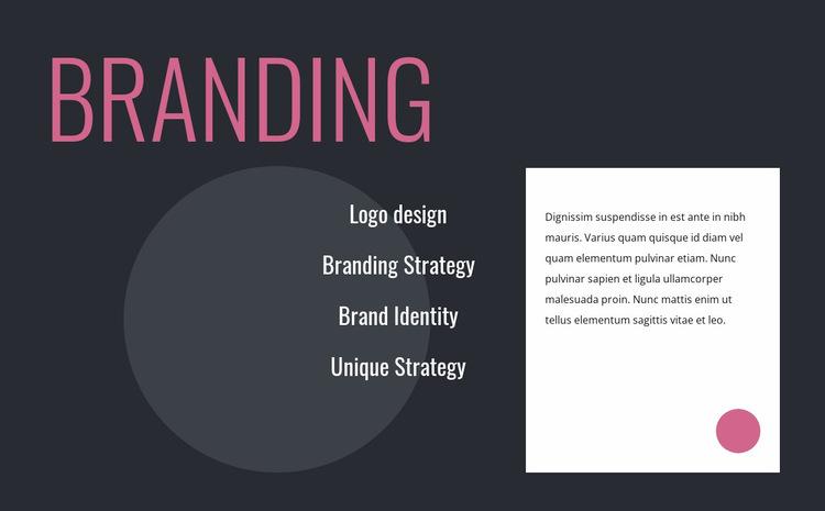 Logo design and branding strategy Website Builder Templates