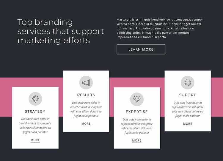 Top branding services Website Mockup