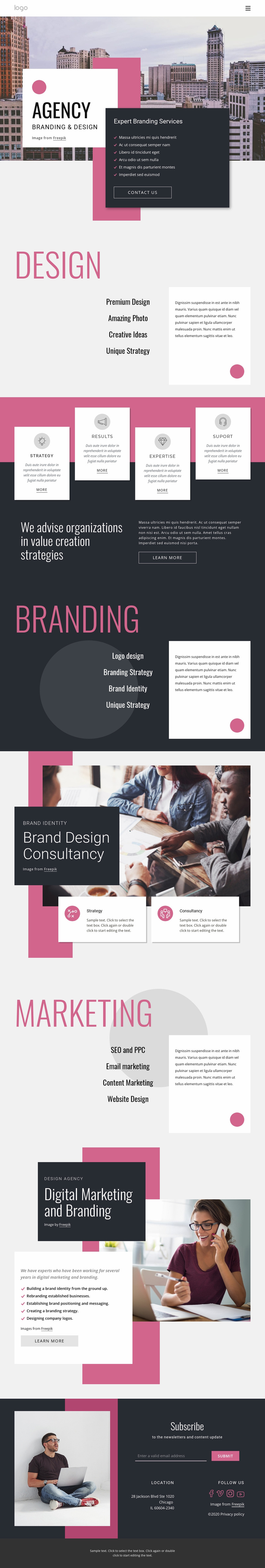 We create digital products and services Website Template