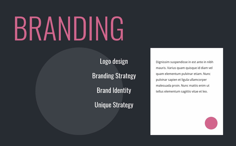 Logo design and branding strategy Website Template