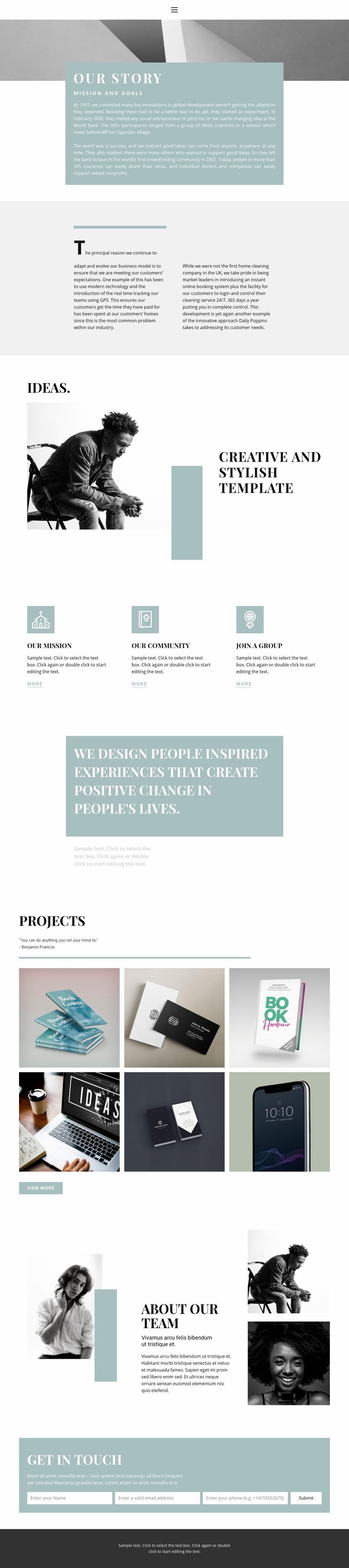 Meet the agency Web Page Designer