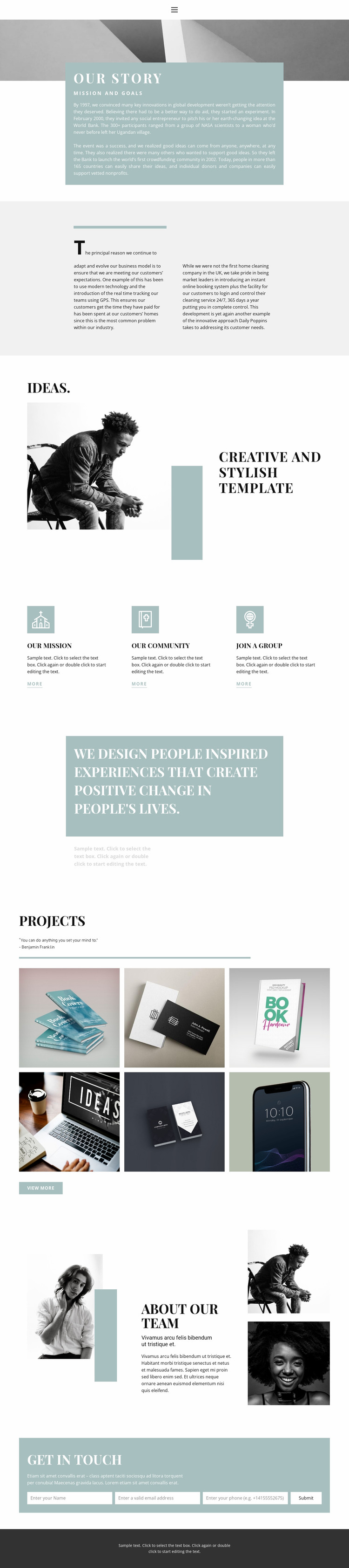 Meet the agency Website Mockup