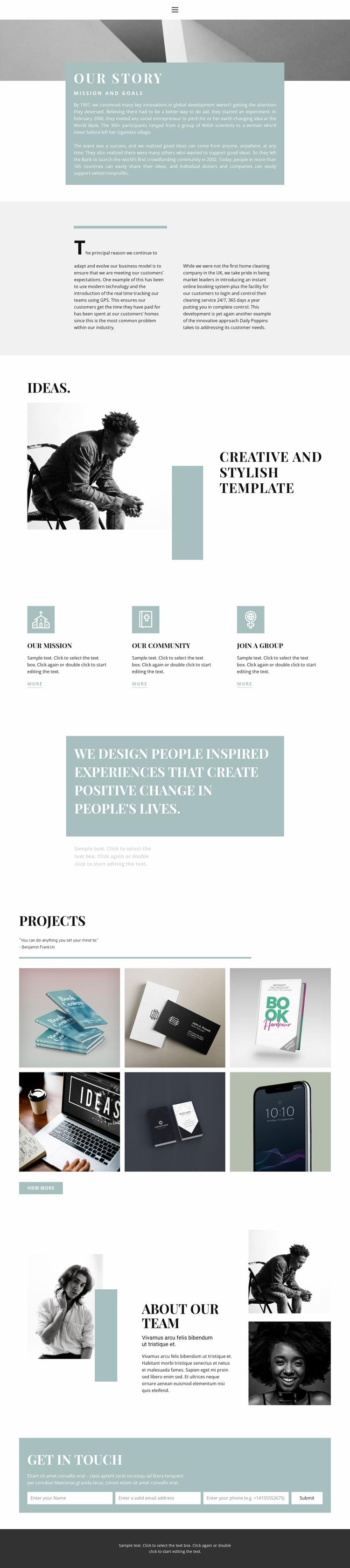 Meet the agency Website Template