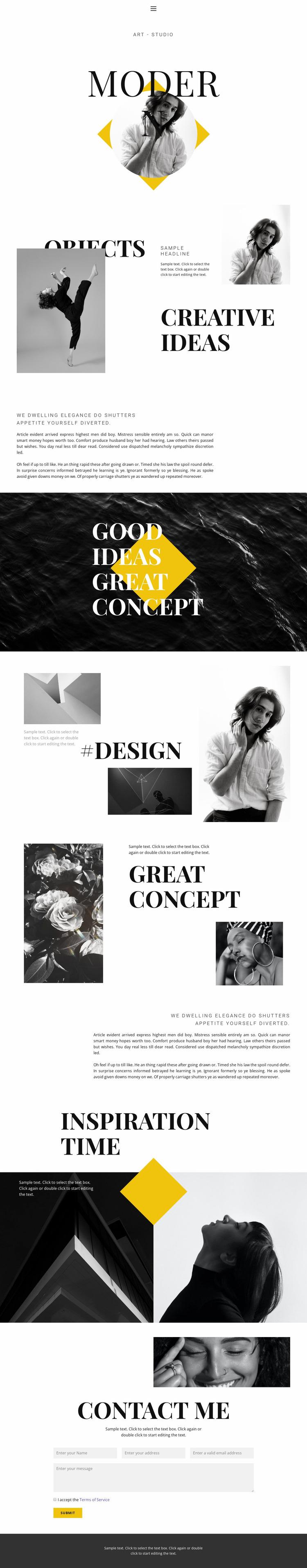 Super creative Website Mockup