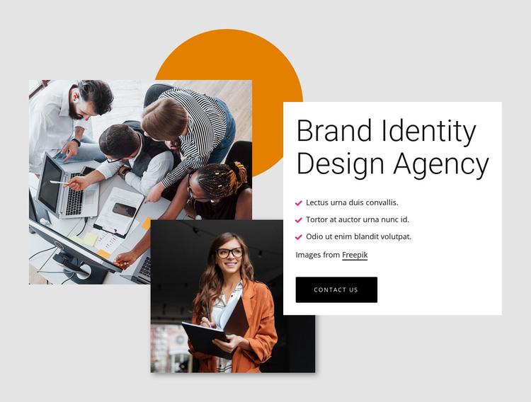Brand identity design agency HTML Template